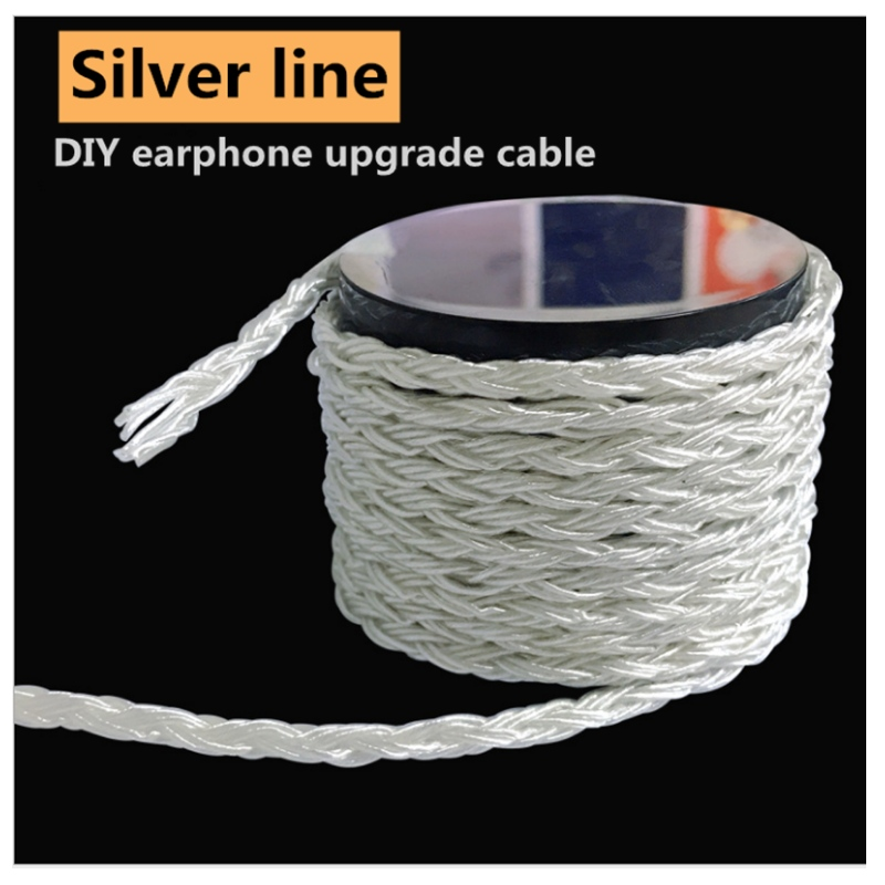 Custom new pure silver wire 10 strands woven pure silver wire core hi-fi headphone wire DIY upgrade wire