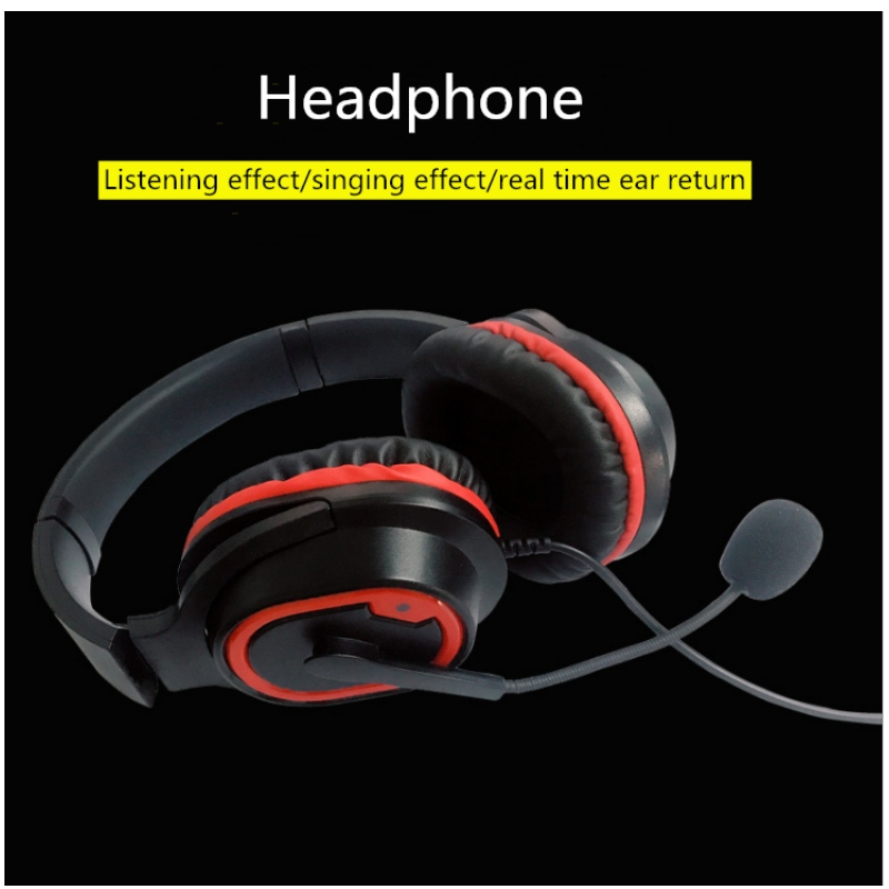 Customized wholesale headset Type-C head mobile phone music game with mic real-time ear with microphone headset