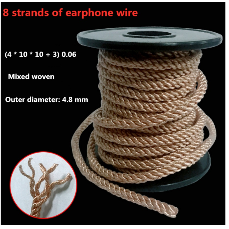 Custom earphone wire base wire 8 strands 560 copper - plated silver mixed wire DIY earphone extension cord upgrade wire